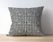 Outdoor Pillow Cover, Gray Lattice, Outdoor Decor, Patio Decor, Outdoor Throw Pillow, Home Decor, Farley Falcon Grey
