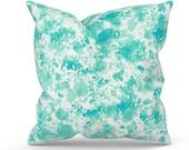 Aqua Outdoor Pillow Cover, Aqua Patio Pillow, Aqua Outdoor Cushion, Aqua Patio Cushion, Premier Prints Shore Surfside, Zippered Pillow