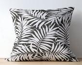 Black Tropical Outdoor Pillow Covers - Black Outdoor Cushions - Black Patio Pillow - Black Patio Decor - Terrasol Savannah Outdoor Black