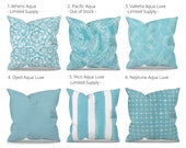 Aqua Outdoor Pillow Covers - Outdoor Decor - Blue Patio Pillows - Blue Patio Cushions - Blue Outdoor Decor - Premier Prints Outdoor