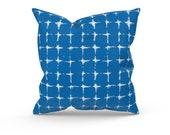 Blue Outdoor Pillow Cover, Outdoor Decor, Blue Patio Pillows, Blue Patio Cushions, Premier Prints Neptune Admiral, Zipper Pillow