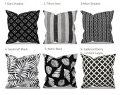 Black Outdoor Pillow Covers - Black Outdoor Cushions - Black Patio Pillow - Black Patio Cushion - Black Patio Decor - Black Outdoor Fabrics