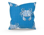 Blue Outdoor Pillow Cover, Outdoor Decor, Blue Patio Pillows, Blue Patio Cushions, Premier Prints Avalon Admiral Luxe, Zipper Pillow