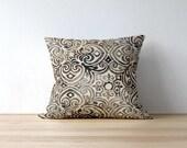 Brown Outdoor Pillow Covers - Black Outdoor Pillow Covers - Outdoor Cushions - Patio Pillows - Bryant Fabrics - Corinthian Driftwood