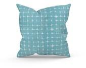 Aqua Outdoor Pillow Covers - Blue Patio Pillows - Blue Patio Cushions - Blue Outdoor Decor - Premier Prints Outdoor Neptune Aqua Luxe