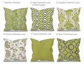 Green Outdoor Pillow Cover, Green Patio Pillow, Patio Cushion, Lime Green Outdoor Cushions, Lime Green Outdoor, Premier Prints Greenery