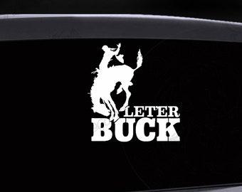 "South Dakota  /""Let er Buck/""  SD   Vintage 1950/'s Style  Travel Decal Sticker"