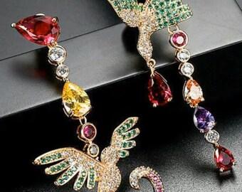 Women//Children/'s 14K WG 4MM Ruby July Birthstone Screw Back Star Earrings