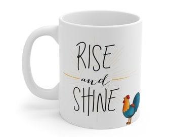 Rise and Shine - La Viejita Ramonita - White Ceramic Mug