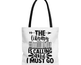 Library is Calling - Large Tote Bag