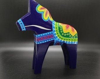 Swedish Dala Horse Rainbow Mandala