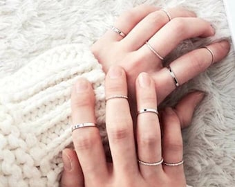 925 Silver Ring For Bridesmaids Jewelry Party Gift Solid Silver Ring ALQ-16J6020 Sterling Silver Rings Simple Opened Ring