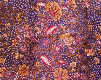 Purple Vintage Kain Batik Lasem, Old Indonesian Batik Tulis Fabric, Pagi Sore Handwritten Batik, Batik Collector Item, Antique Fabrics