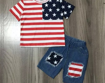 Kids Fireworks Onesie Christmas in July SALE Cute Holiday Shirts and Bodysuits Stars and Stripes Stud 113 Boys July 4th Collection