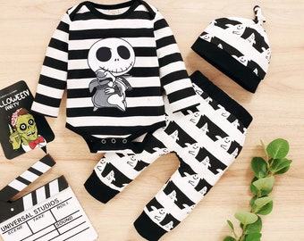 Baby Boy Halloween Outfit Baby Jack and Oogie Man outfit baby boy Halloween set gender neutral nightmare before Christmas insipired