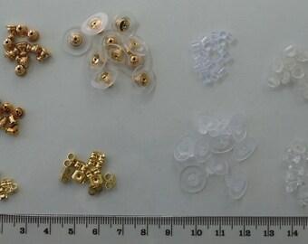 100 per pack approx 4 x 6 mm Plastic Earring Backs