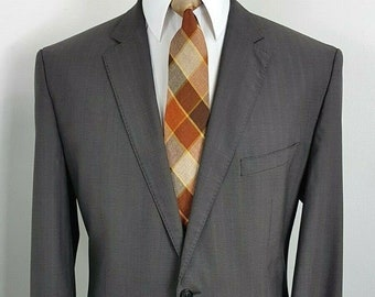 MALO Wool Cashmere Gray Three Button Mens Blazer US 46 IT 56