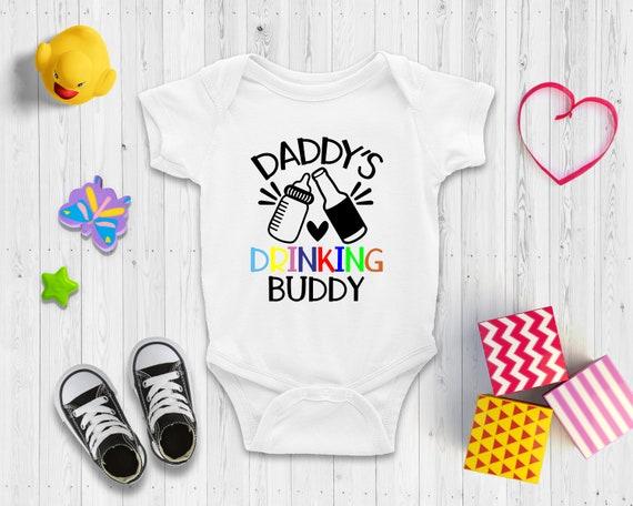 Hand Drawn Bodysuit Drinking Buddies Bodysuit Funny Bodysuit Gift for baby shower