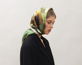 "Medium Silk Scarf ""The Dance Class"", Printed Scarf, Women's Scarf, Italian Silk, Art,  Edgar Degas, Gift for Her, French"