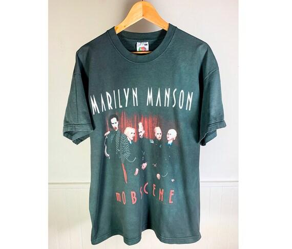 """2003 Marilyn Manson t-shirt """"mObscene"""""""