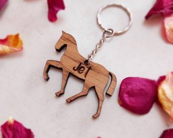 Personalised Pet Keyring, Horse, animal Keychain.