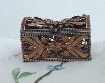 #2 Monkey Jeweled Trinket Box with Austrian Crystals