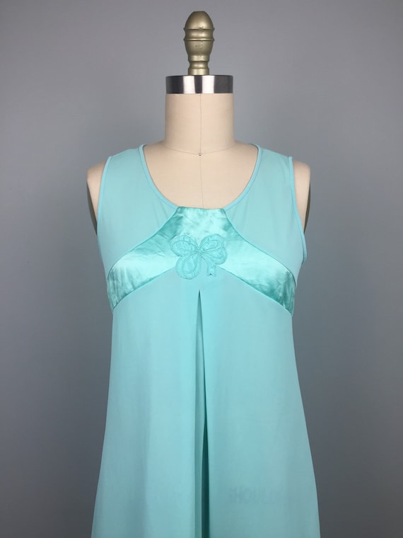 Mint Green 1970's Two Piece Nightgown - image 3