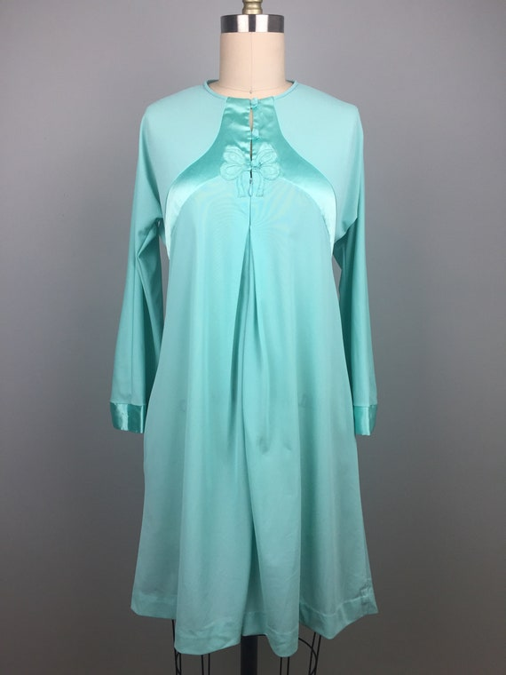 Mint Green 1970's Two Piece Nightgown - image 7