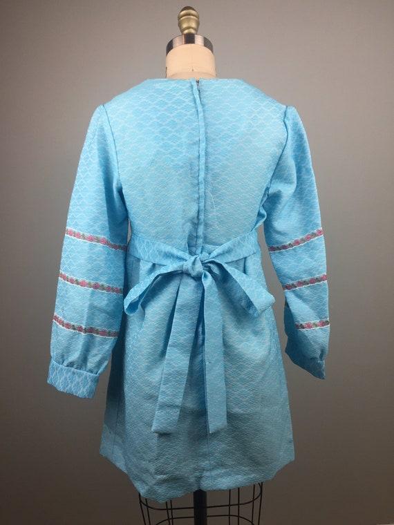 1970's Blue Mini Dress - image 3