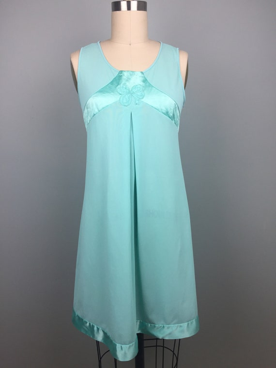 Mint Green 1970's Two Piece Nightgown - image 2