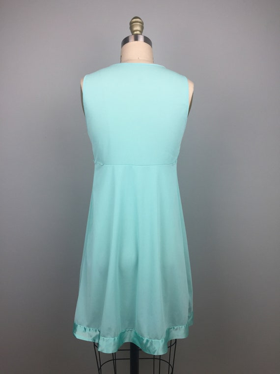 Mint Green 1970's Two Piece Nightgown - image 4