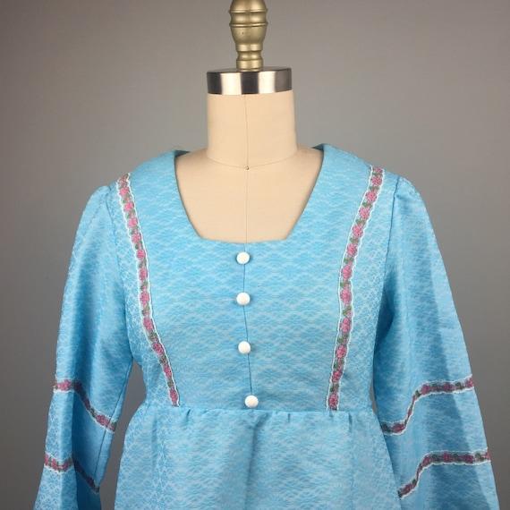 1970's Blue Mini Dress - image 1
