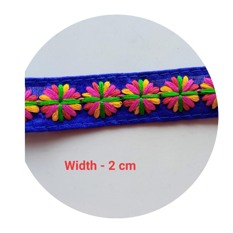 Royal Blue cotton Trim Width 2 cm