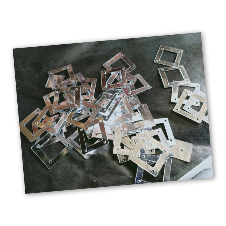 Silver Square Sequin width 1.5 cm Picture frame Sequin