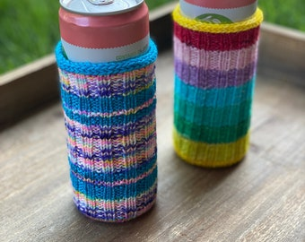 Cozy Knitting Pattern | Skinny Can Cozy (Digital File - PATTERN ONLY)