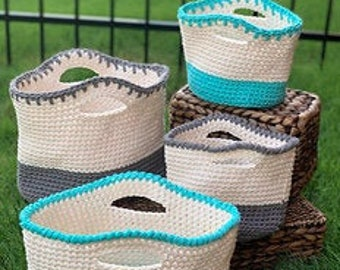 Crochet Bag Pattern | Float Tote Family TWO Bag Patterns (Digital Download - PATTERN ONLY)