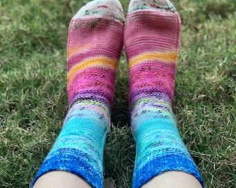 Sock Knitting Pattern | Scraptastic Socks (Digital Download - PATTERN ONLY)