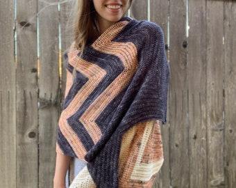 Crochet Wrap Pattern | Springtime in Suburbia (Digital Download - PATTERN ONLY)