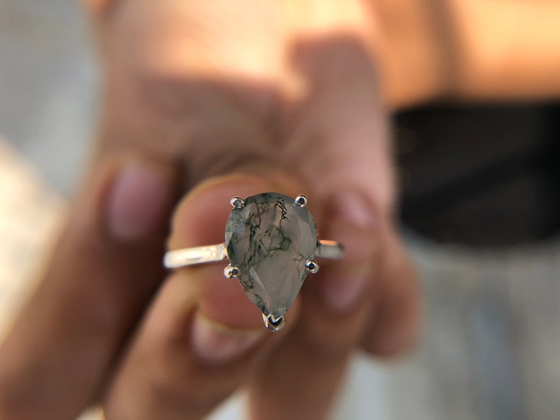 5 prong Engagement Ring Anniversary Gift Ring Wedding Ring 2.50 Carat Pear Cut  Solitaire Engagement Ring Pear Cut Ring
