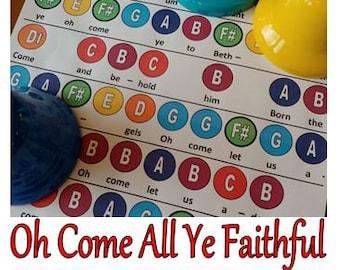 Oh Come All Ye Faithful Handbell Chart