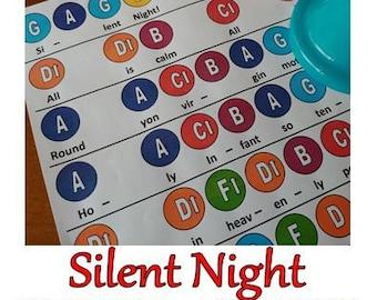 Silent Night Handbell Chart