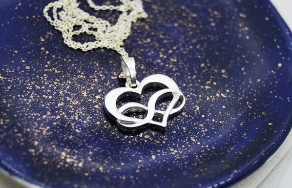 Birthday Gift for Women Triple Infinity Polyamory Pride Jewelry Silver Polyamory Necklace Polyamorous Triple Heart Necklace