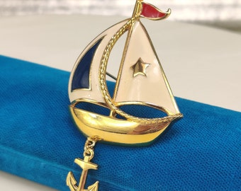 boat charm jewelry supplies 2 pc pewter sail boat scene charm
