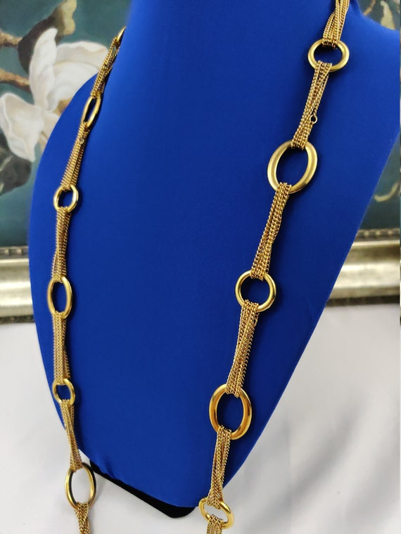 CAROLEE Necklace Long Chain Signed Vintage Jewelry