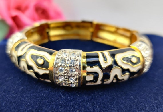 Bracelet JOAN RIVERS Dalmatian Rhinestones Vintage
