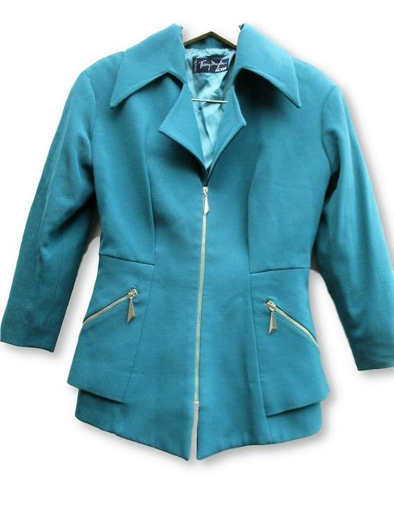 Vintage Thierry Mugler Blazer turquoise