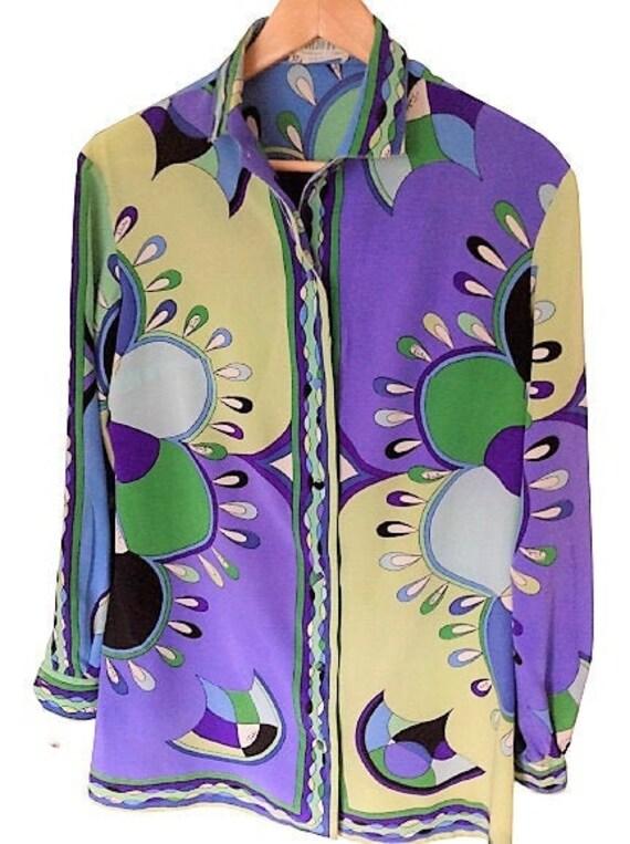 Vintage Emilio Pucci Silk Blouse