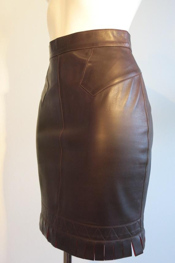 Azzedine Alaia vintage leather skirt