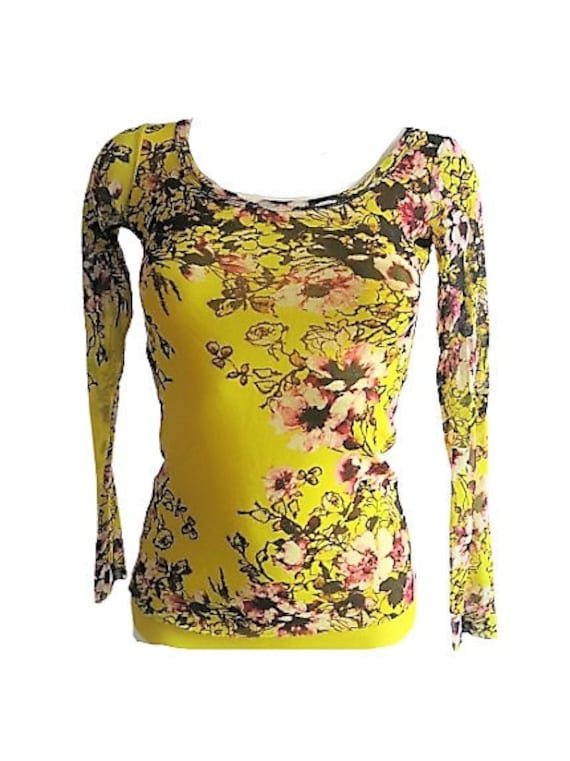 sun-yellow top by Jean Paul Gaultier vitnage