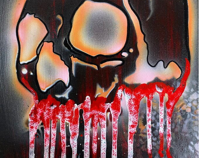 Skull Study Series #34 , Pop Art , Modern Art , Contemporary Art